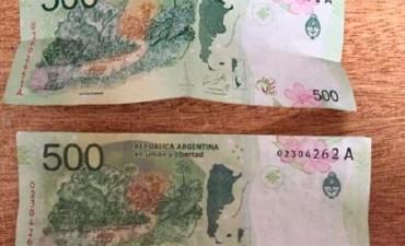 Alerta por billetes de 500 pesos falsos en Entre Ríos: Cómo detectarlos