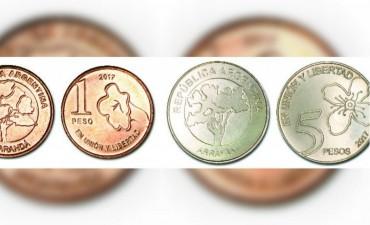 Así son las nuevas monedas de 1 y 5 pesos
