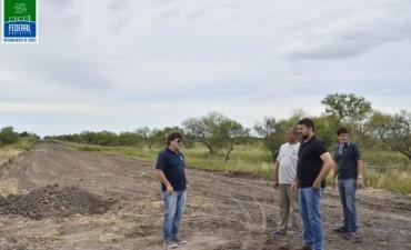 El Intendente recorrió los caminos rurales en reconstrucción