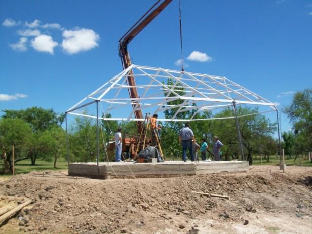 Obras en el camping Municipal de Federal
