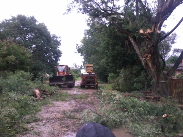 Tormenta con fuertes ráfagas de viento en Federal