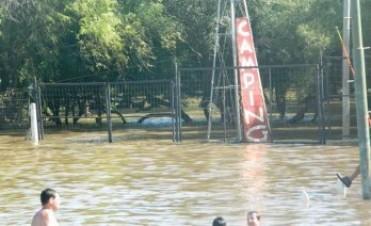 Panorama complicado en las costas del Uruguay, crece el río y no hay playa