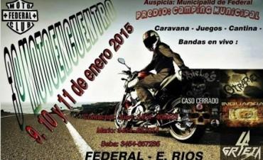 Este fin de semana se realiza el Motoencuentro Solidario en Federal