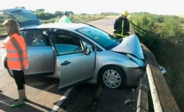 Por un pozzo tuvo un accidente en la ruta provincial Nº 6