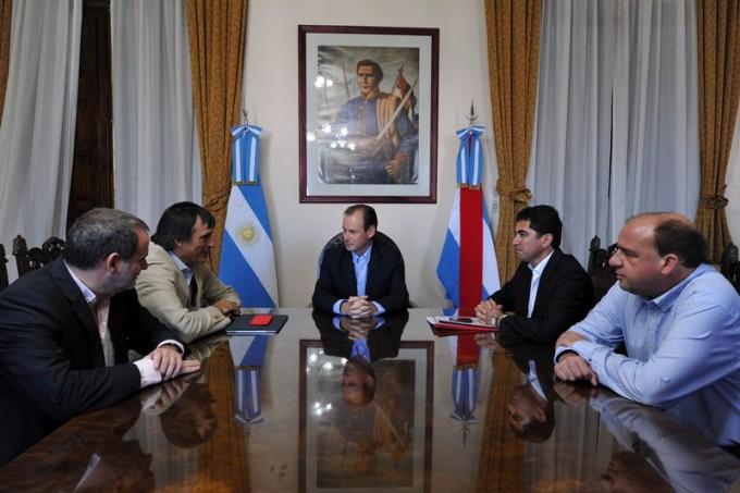 El gobernador Bordet estuvo con el Ministro de Educación de la Nación