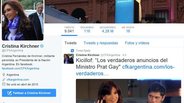 La Ex Presidenta, Cristina Fernandez critico los anuncios de Prat Gay