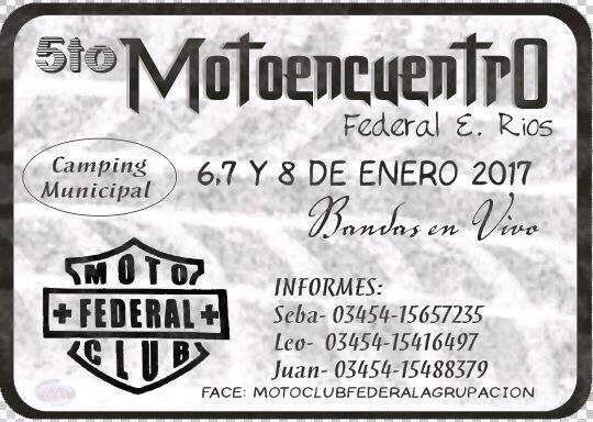 5to Moto - Encuentro de Federal