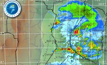 Un alerta de probables tormentas fuertes cubre toda Entre Ríos