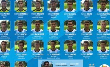 Úbeda dio la lista de convocados al Sudamericano sub 20