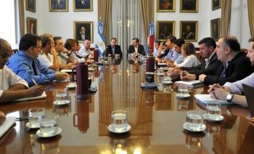 La primera reunión de gabinete del año, signada por el temporal