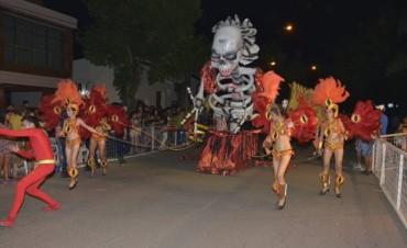 Primera noche de los carnavales federalenses