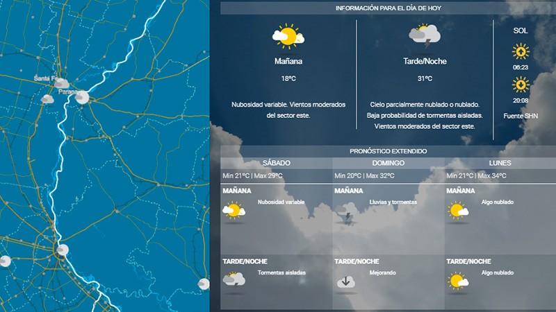 Pronostican un fin de semana inestable y con probables tormentas el domingo