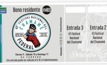 Bono de residentes a la venta del 43 Festival Nacional del Chamame