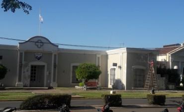 Tareas de mantenimiento en la Municipalidad de Federal