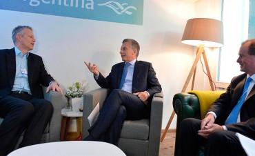 Bordet acompañó a Macri a la reunión con líderes de empresas internacionales