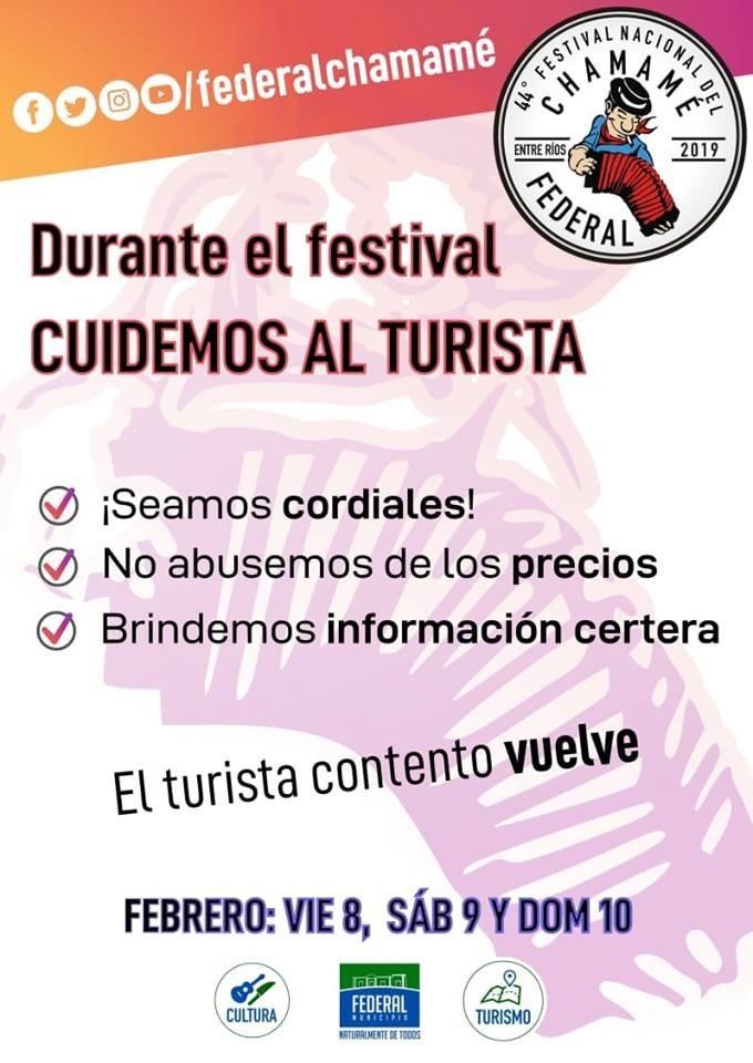 Desde la Oficina de Turismo piden cuidar al turista durante el Festival