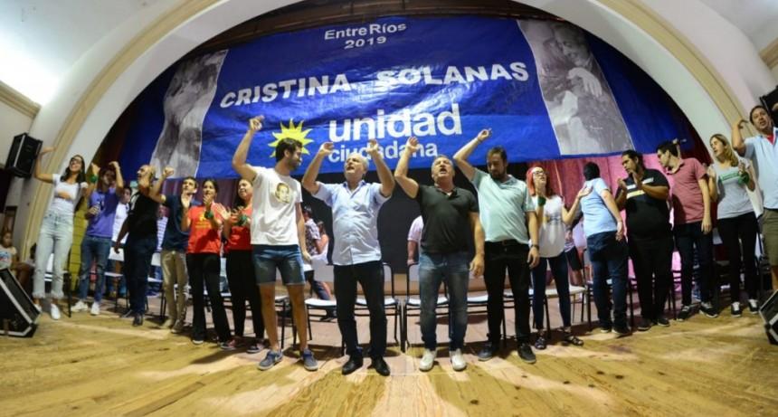 Jóvenes de Unidad Ciudadana con Solanas