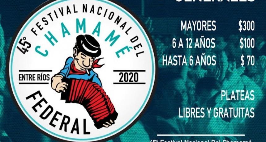 Precios de las entradas generales para el próximo Festival Nacional del Chamame