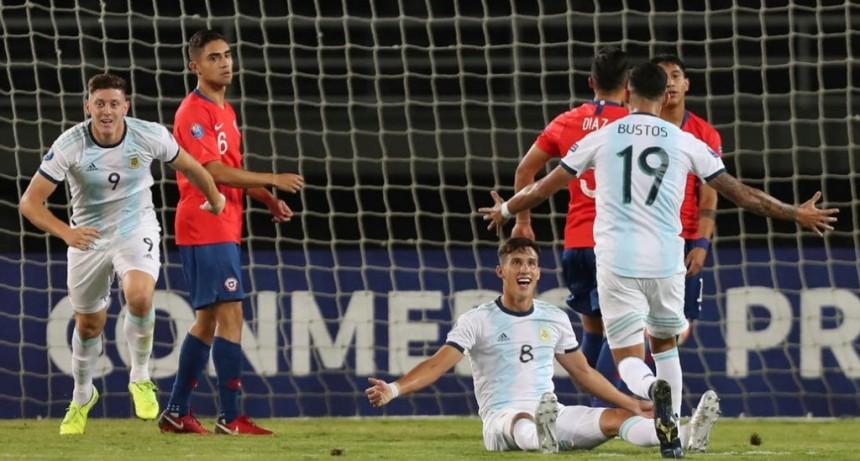 Otro triunfo para soñar: Argentina le ganó a Chile por el Preolímpico y llegó a la punta del grupo