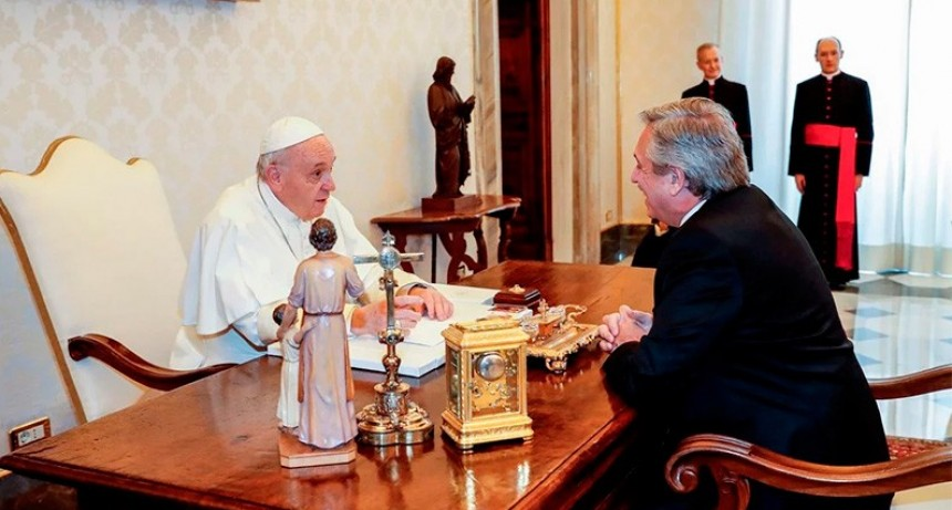 Alberto Fernández se reunió durante 44 minutos con el papa Francisco