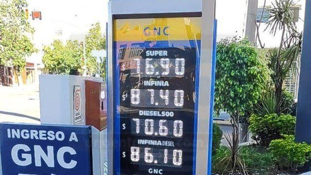 YPF aumentó nuevamente este domingo los combustibles