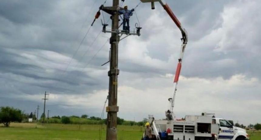 Enersa: Se normalizan fallas eléctricas en varias zonas
