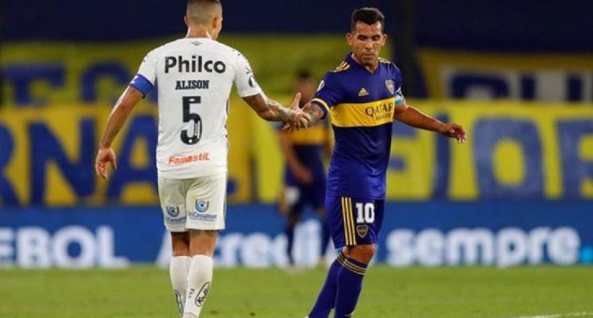 Boca no pudo ante Santos, cayó por 3 a 0 y quedó eliminado de la Copa Libertadores