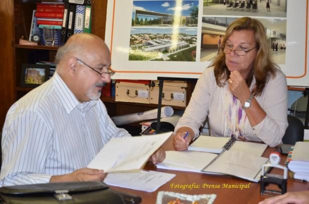 Felipe Torres en Paraná: gestiones por obras para  Federal