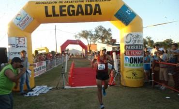 Martín Mendez ganó la prueba atlética del Chamamé
