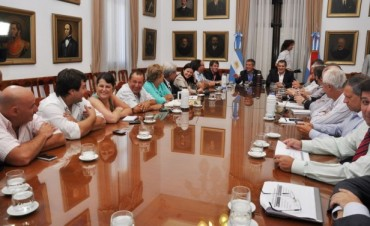 Sergio Urribarri se reunió con su gabinete este lunes