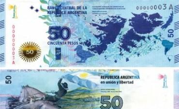 Entra en circulación el nuevo billete de 50 pesos