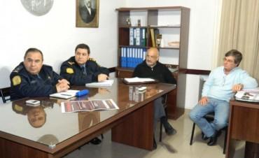 Analizaron la situación de la seguridad  y la coordinación de acciones entre municipio y Policía
