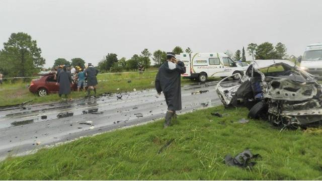 Trágico accidente en la ruta Nacional N° 18 cerca de Viale: cuatro muertos