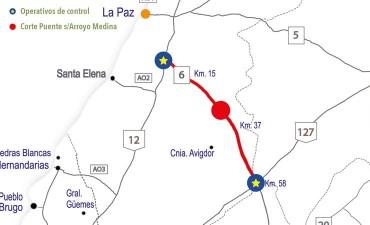 Desde el miércoles se interrumpirá el tránsito en la ruta provincial 6