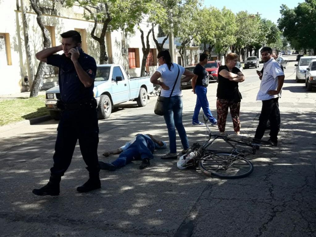 Sin consecuencias graves , accidente en pleno centro de la Ciudad .