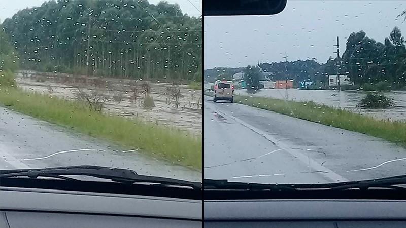Piden transitar con precaución por la red vial entrerriana debido a las lluvias