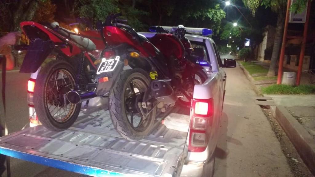 Detenidos y controles de motos