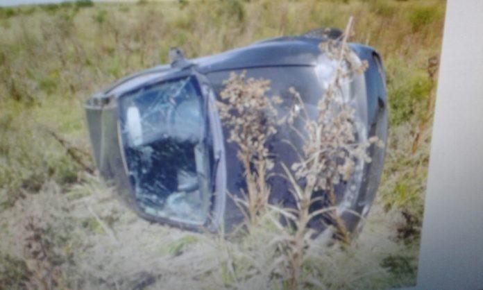 Un oficial oriundo de Federal en estado de ebriedad volcó en ruta 22