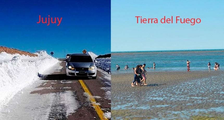 La Patagonia vive una inédita ola de calor y en Jujuy, nieva en pleno verano