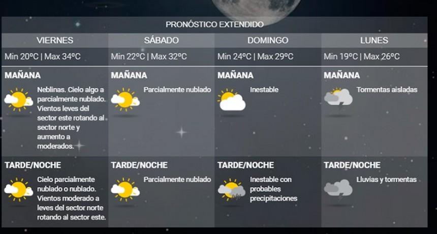 Pronostican lluvias de hasta 80 milímetros desde el domingo en Entre Ríos