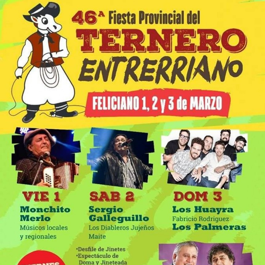 Se viene la 46  Fiesta Provincial del Ternero en Feliciano