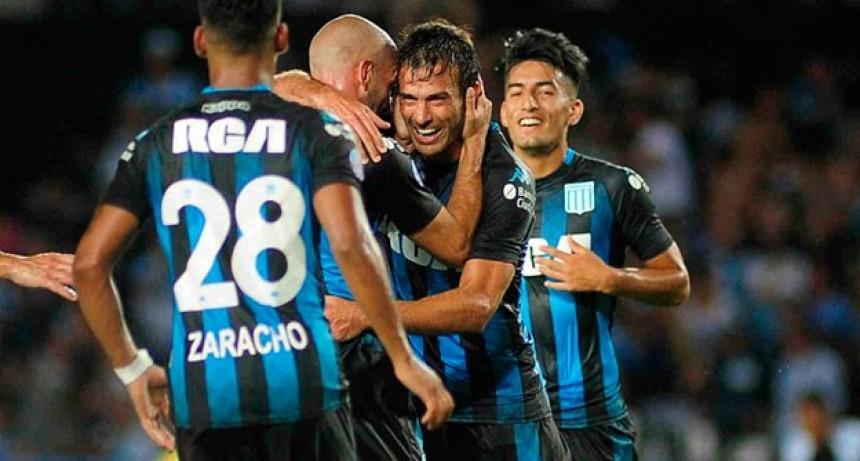 Racing goleó a Godoy Cruz y volvió a la punta de la Superliga
