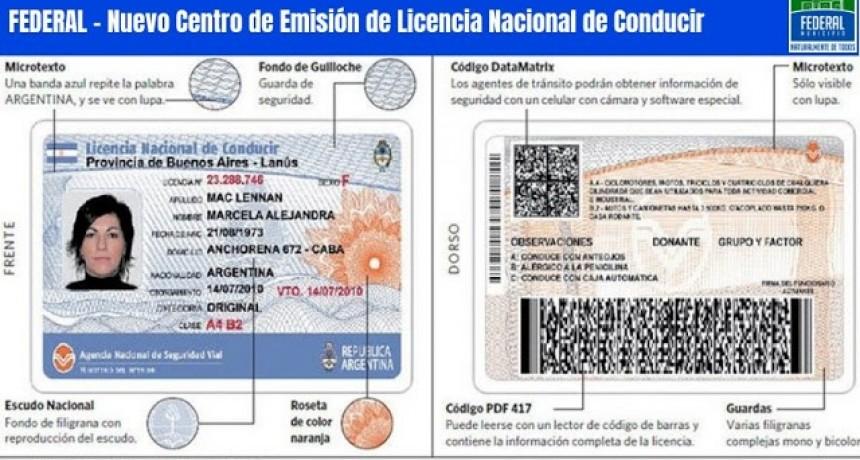 El Área de Transito recuerda que esta en vigencia la nueva licencia nacional de conducir