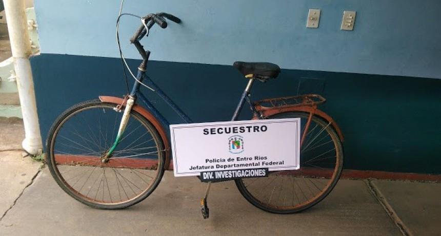 Recuperan bicicleta abandonada
