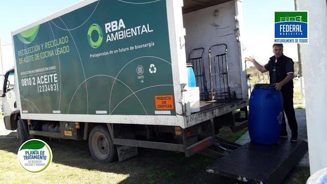 Retiraron 800 lts. de aceite vegetal usado