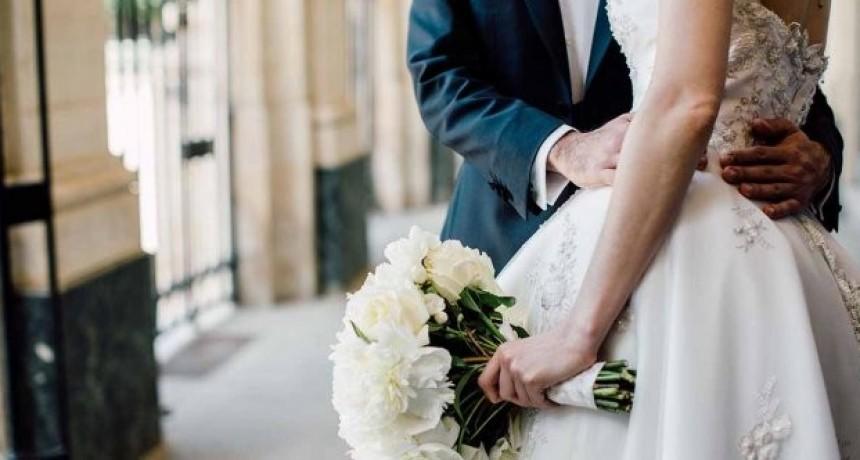 El año pasado hubo en promedio 10 casamientos por día en la provincia