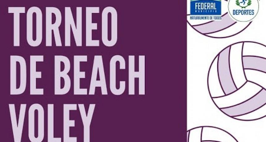 Torneo de Beach Voley este fin de semana en el Polideportivo Municipal