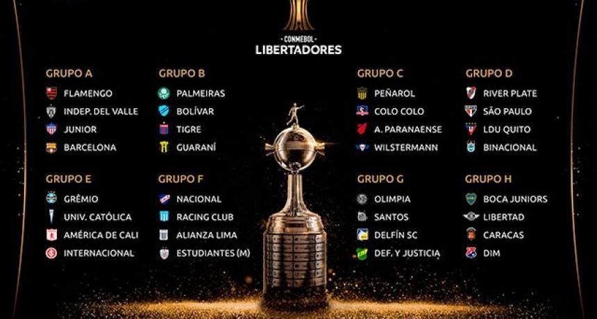 Quedó definido el cuadro de la fase de grupos de la Copa Libertadores 2020