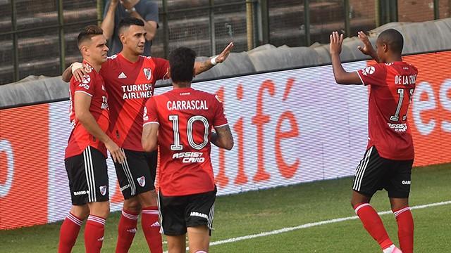 River derrotó a Platense 1 a 0 como visitante y se acomodó en la zona A