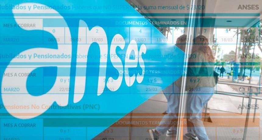Jubilaciones, pensiones y AUH: los cronogramas de pago de Anses para marzo